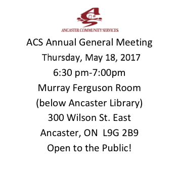Annual General Meeting @ Murray Ferguson Room | Hamilton | Ontario | Canada